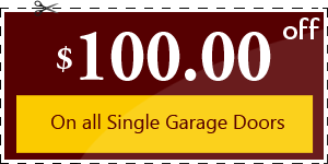 $100.00 OFF - On all Single Garage Doors
